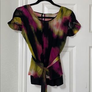 Colorful Blouse With Built In Cami